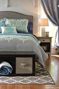 Gorgeous Global Styled Bedroom | Better Homes and Gardens products available at Walmart #BHGStyleShowcase #BHGLiveBetter
