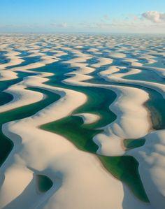 Parque Nacional dos Lençóis Maranhenses - Sand dunes with Fresh water in between