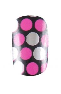 HND Nail Wraps - Random Spots Pink  Hollywood Nail Design £5.50 for a pack of 15.