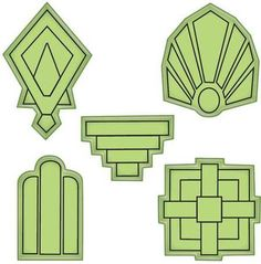 Art Deco Shape Stamping Gear Stamps