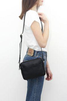 350ff3dada3 NINA Leather CrossBody Bag BLACK by MISHKA Black Leather Crossbody Bag