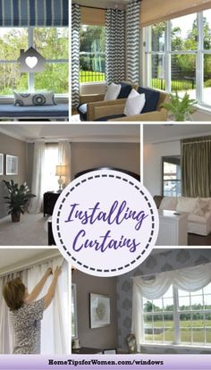 For each room you'll want to think about the curtain's purpose, style, materials & of course, how installing curtains can change how the room feels Wide Curtains, Hanging Curtains, Home Hacks, Purpose, Feels, Change, Windows, Room, Projects
