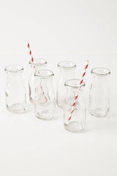 Glass Milk Bottles / Anthropologie.com
