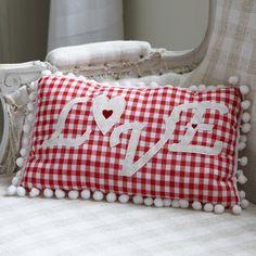 gingham cushion