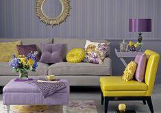 Mixes de cores com Amarelo e Orquídea Radiante. Perfeito.