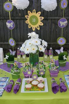 Purple Tinkerbell Party birthday - for Avery's 3rd birthday!