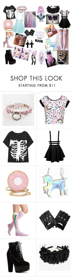 """""""Pastel Goth!"""" by cutiepieadorbz ❤ liked on Polyvore featuring Ultimate and Tarina Tarantino"""