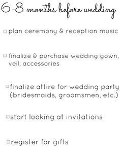 A 12 Month Engagement Wedding Planning Checklist Crazyforus