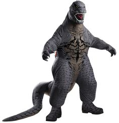 Adult Mens Godzilla Blowup Costume Rubies Inflatable Jumpsuit Party Halloween #Rubies