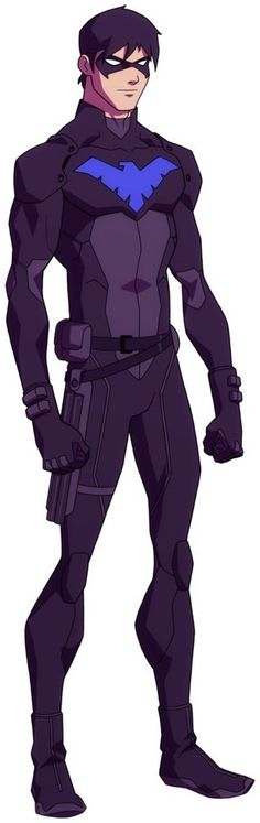 Young justice Dick Grayson. aka(robin when he takes over for batman) dark wing