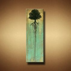 Original landscape abstract tree painting angiec surreal modern ...