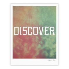"Rachel Burbee ""Discover"" Green Orange Fine Art Gallery Print"