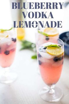 Forget plain old lemonade, this blueberry version is twice as fun! Blueberries, mint and blueberry vodka make this tart beverage the most refreshing sip around! Lemonade Cocktail, Cocktail Drinks, Cocktail Recipes, Blueberry Vodka Drinks, Blueberry Lemonade, Lemon Drop Martini, Drinks Alcohol Recipes, Yummy Drinks, Drink Recipes