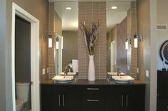 His and hers sinks in a custom home by G.J. Gardner Homes