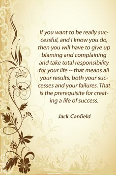 Creating a life of success - Jack Canfield
