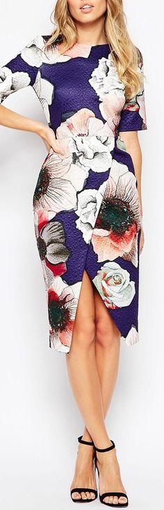 floral wrap skirt dress