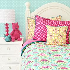 For SK's big girl room! Matches the color scheme of her custom curtains.