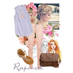 Rapunzel by skittlesmcgraw on Polyvore #tangled #disney #disneybound
