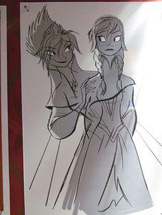 Anna Frozen Concept Art | File:Anna-and-Elsa-Concept-Art-frozen-35612444-1200-1600.jpg