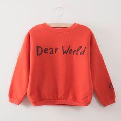 Bobo Choses Red Clay Dear World Sweatshirt