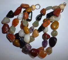 Agaty - zrobiłam do naszyjnika - jest komplet - kocham kamienie...