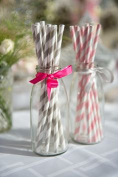 CANDY BAR, mariage, wedding, paille, paille grise, paille rose, paille rayée…