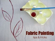Fabric Painting Techniques - The Sewing Loft Learn how to transform fabric with simple tips and techniques. Part of a fabric dyeing mini series on The Sewing Loft. Fabric Painting, Fabric Art, Fabric Crafts, Fabric Design, Sewing Crafts, Sewing Projects, Sewing Hacks, Thread Painting, Easy Projects