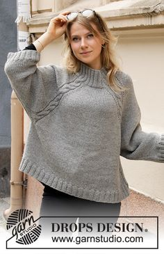 Most up-to-date Absolutely Free knitting patterns sweaters Popular Sidewalk Café Sweater / DROPS – Kostenlose Strickanleitungen von DROPS Design Knitting Patterns Free, Free Knitting, Free Pattern, Crochet Patterns, Drops Design, Handgestrickte Pullover, Oversized Jumper, How To Start Knitting, Jumpers For Women