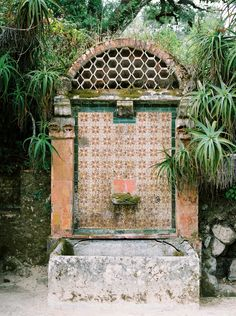 I know it's a water fountain but it's like an altar to nature. portugal travel photo by camilla jorvad. monserrate palace garden in sintra