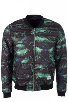 A Question Of Palm Camo Bomber Jacket Black - #Varsity and #Bomber Jacket trend for menswear SS14