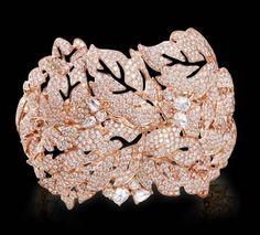 All Diamond Bracelet All diamond bracelet set in 18K rose gold.}} By Farah Khan