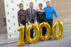 """El equipo de """"Zapeando"""", Anna Simon, Frank Blanco, Cristina Pedroche y Miki Nadal, ha celebrado su programa 1000."""