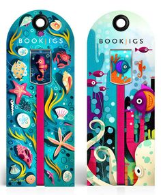Bookjigs aquatic bookmarks