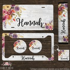Items similar to Personalized License Plate Monogram License Plate Floral License Plate Car Accessories Custom Tag Seatbelt Cover Coasters Keychain on Etsy License Plate Designs, Monogram License Plate, Custom Front License Plates, License Plate Frames, Custom Tags, Car Covers, Car Accessories, Seatbelt Cover, Car Stuff