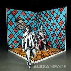 Out of This World by Alexa Meade.  Alexa Meade paints directly onto real people and 3D spaces to make them look like 2D paintings. www.alexameade.com #art #fineart #painting #bodypainting #alexameade