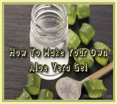 Here's a quick and simple technique showing: How to Make Your Own Aloe Vera Gel : )