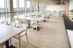 L-112K wooden Kantti chairs. Haltia, The Finnish Nature Centre.