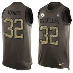 Nike Steelers #32 #Franco #Harris Green Men's Stitched #NFL Limited Salute To Service Tank Top #Jersey