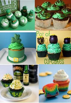 St. Patrick's Day Cupcakes and Cookies w recipes from Divine Party Concepts.com  sallyeidson.willowhouse.com