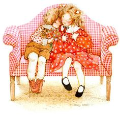 Holly Hobbie : Love is meant to be shared. Sarah Kay, Holly Hobbie, Toot & Puddle, Vintage Illustration, Applique Pillows, Dibujos Cute, American Greetings, Little People, Clipart