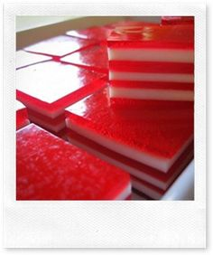 Canada Day Layered Finger Jello