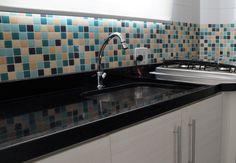 Pastilha Resinada adesiva na Cozinha - Mude em minutos o visual. Faça você mesmo! Decore e mude os ambientes! Banheiro - Cozinha - Lavanderia