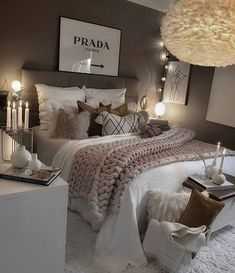 Girl Room Decor Ideas - What's the best color for a teenage girl's bedroom? Girl Room Decor Ideas - How do you clean your room fast? Teen Bedroom Designs, Room Ideas Bedroom, Small Room Bedroom, White Bedroom Decor, Ikea Bedroom, Adult Bedroom Ideas, Grey Bedroom Design, Cosy Grey Bedroom, Bedroom Inspo Grey