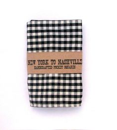 Handcrafted Pocket Square Men's Black Small Gingham Check by NewYorktoNashville, $22.45
