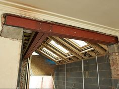 Removing Load Bearing Internal Walls - Things to Know! Kitchen Extension Glass, Side Return Extension, House Extension Design, Extension Ideas, Load Bearing Wall, Building Contractors, Steel Beams, House Extensions, Kitchen Extensions