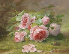 Therese Guerin (Lyon 1861-1933) Flower Piece with Rose
