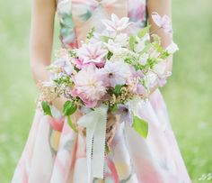 Styling Your Bridesmaids Along with Their Bouquets