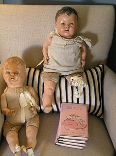 well loved old dolls