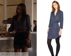Iris West (Candice Patton) wears this blue printed shirtdress in this weeks special crossover episode of The Flash, The Flash VS. Arrow. [...]
