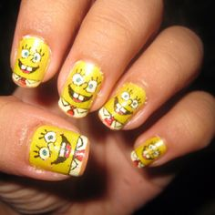 SpongeBob SquarePants Nails